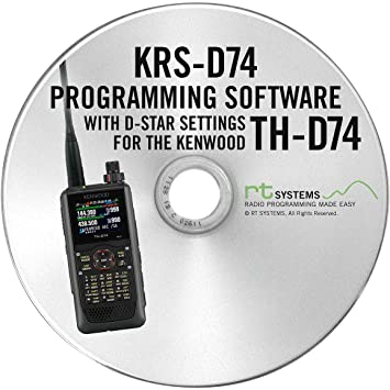 RT Systems KRS-D74 Programming Software and USB Micro B cable for the  Kenwood TH-D74A