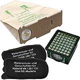 Staubbeutel Profi - Bolsas (10 unidades), filtro HEPA y 2 filtros de motor para aspiradoras Vorwerk Kobold 130 y 131
