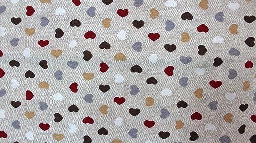 Tela algodón estampado diseño corazones multicolor tamaños retales ...