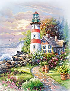 Springbok Puzzles - Signal Point - 500 Piece Jigsaw Puzzle - Large 18 Inches by 23.5 Inches Puzzle - Made in USA - Unique Cut Interlocking Pieces