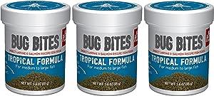 Fluval (3 Pack) Bug Bites Tropical Formula for Medium to Large Fish