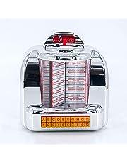 MPK 1950s Retro Styled Wireless Bluetooth Stereo Speaker, Vintage American Dinner Jukebox with FM Radio