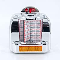 MPK 1950s Retro Styled Wireless Bluetooth Stereo Speaker, Vintage American Dinner Jukebox with FM Radio