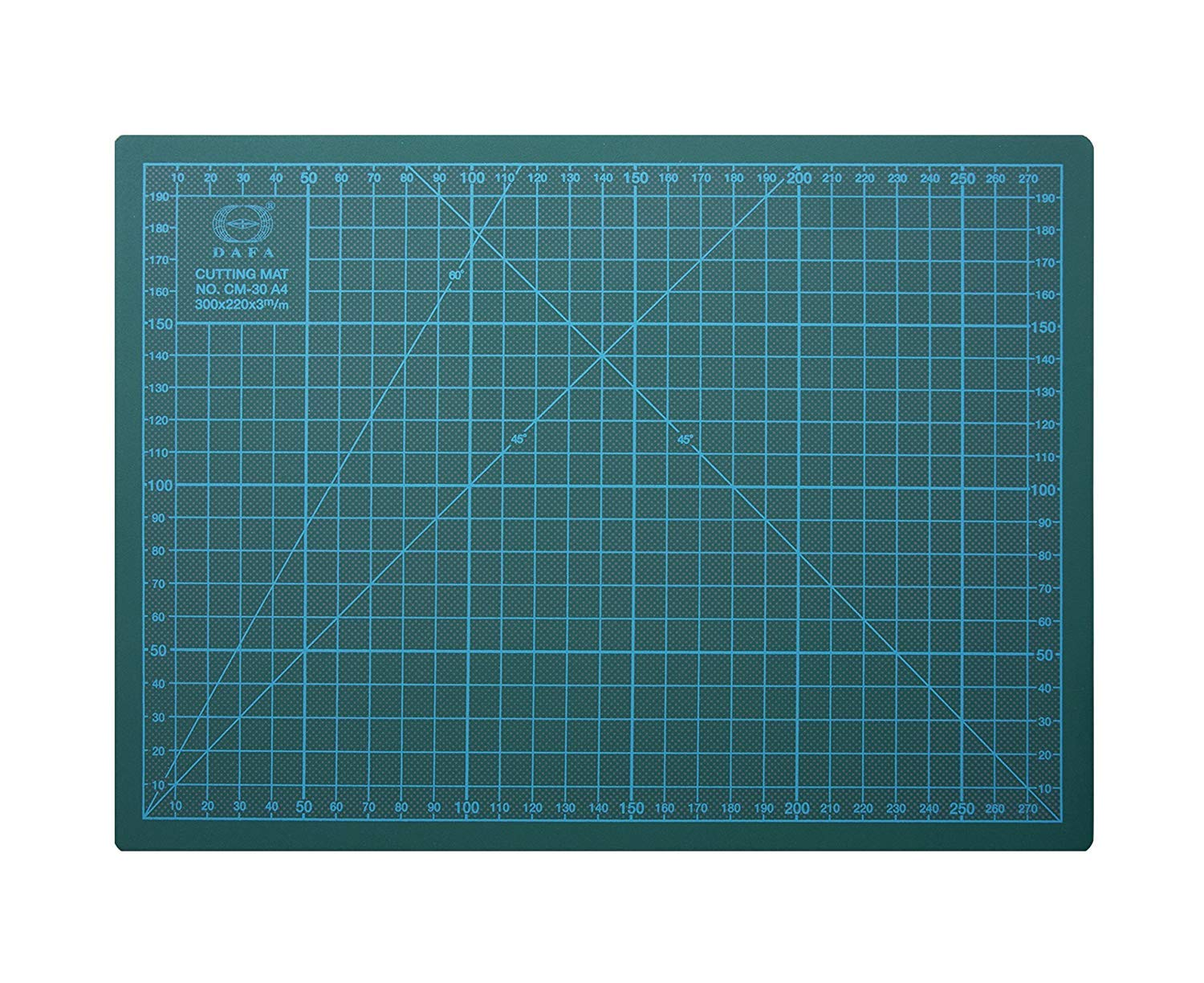 """DAFA Professional 24"""" x 18"""" Self-Healing, Double-Sided Cutting Mat, Rotary Blade Compatible, (36x24), (24x18), (18x12), (12x9) Sizes, for Sewing, Quilting, Arts & Crafts"""