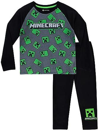 Minecraft Pijamas de Manga Larga para Niños Creeper: Amazon.es: Ropa y accesorios