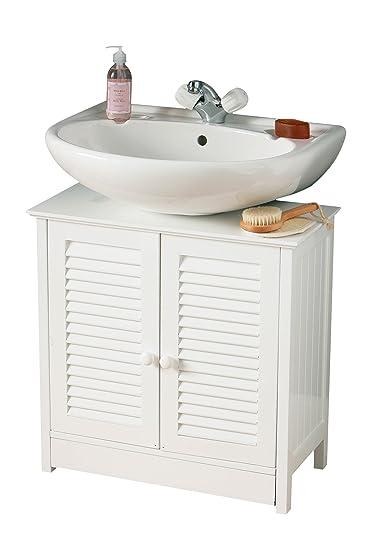 premier housewares mobile sottolavello per bagno con due ante 60 x 60 x 30 cm