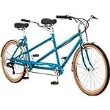 Schwinn Twinn Classic Tandem Adult Beach Cruiser Bike, Double Seater, Steel Low Step Frame, 7-Speed, Medium or Large…