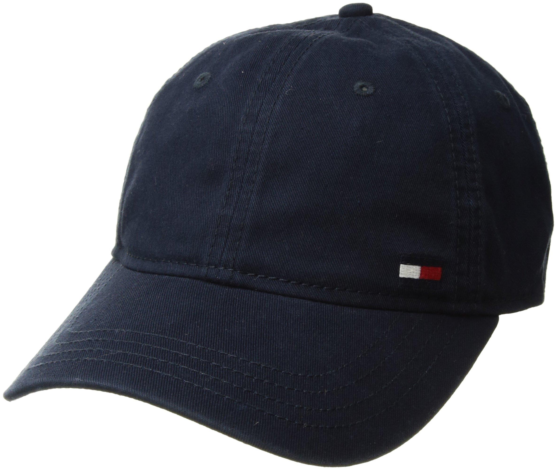 Tommy Hilfiger Men's Dad Hat Billy Corner Flag Cap, Navy Blazer, O/S