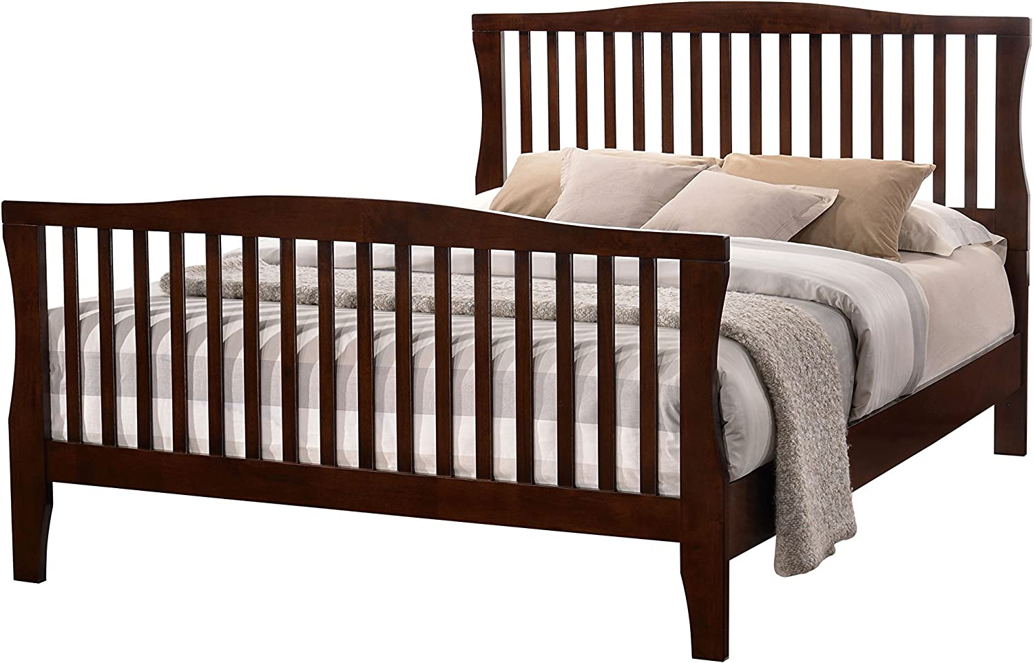 Furniture of America Furniture of America Reedling Contemporary Bed, California King, Brown Cherry