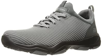 USA Mens Larson omero Oxford, Gray, 11.5 M US Skechers