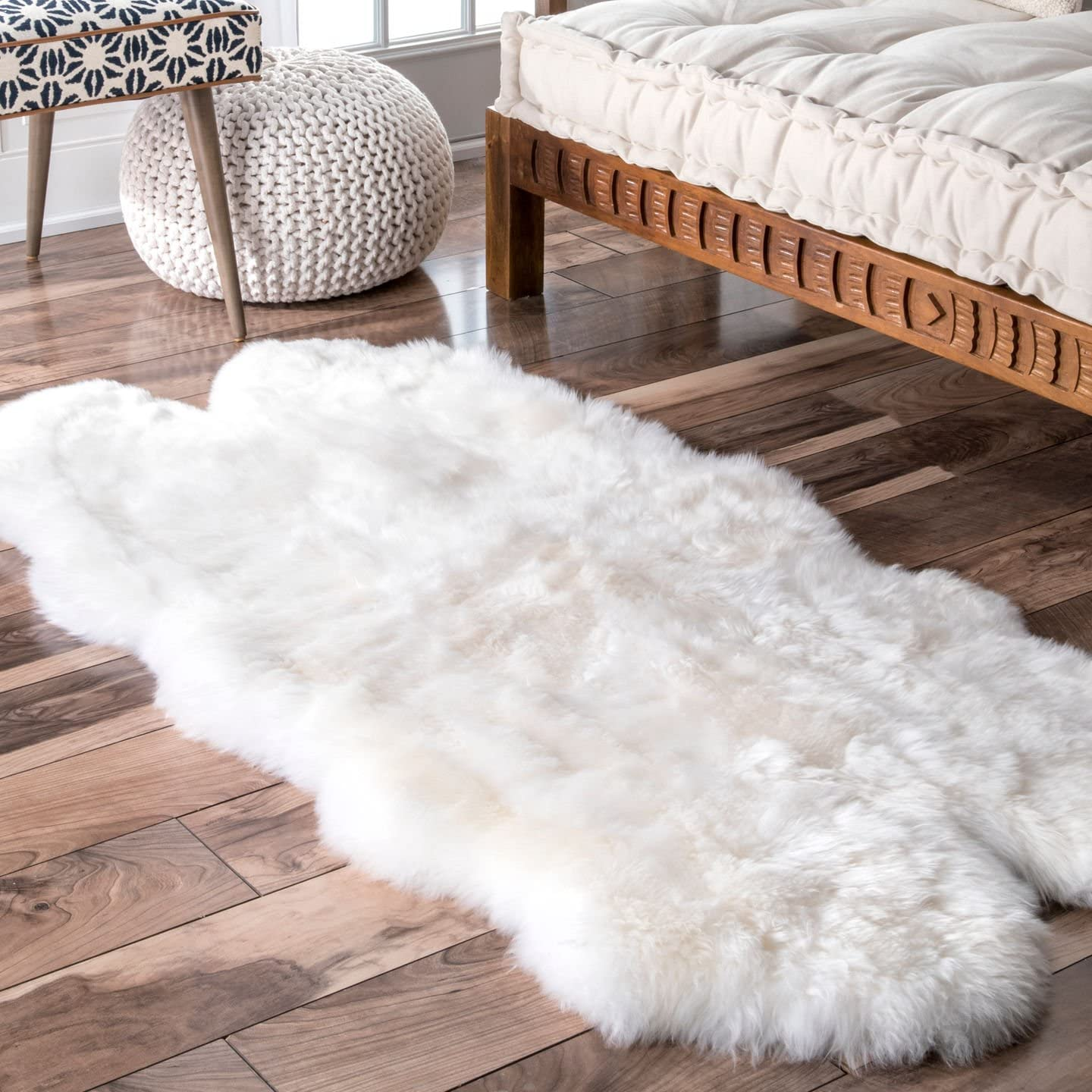 nuLOOM Luxe Hand Made Quarto Shag Rug, 2 7 x 5 3 , Natural