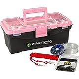 Wakeman Fishing Single Tray Tackle Box 55 Pc Tackle Kit