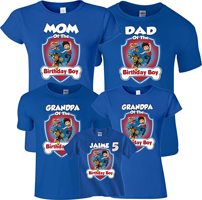 Birthday Boy Girl Custom Family MOM DAD Shirts XS Youth 5