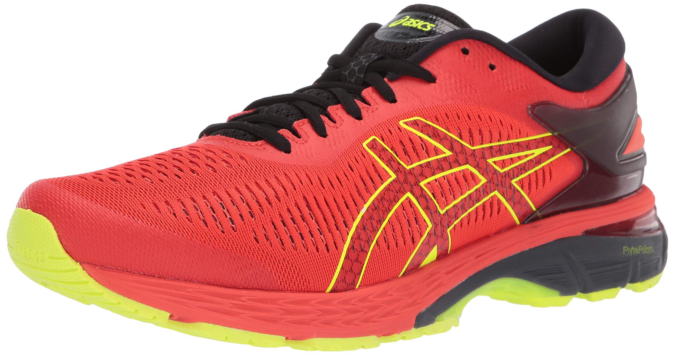 ASICS Gel-Kayano 25 Men's Running Shoe, Cherry Tomato/Black, 10 D US