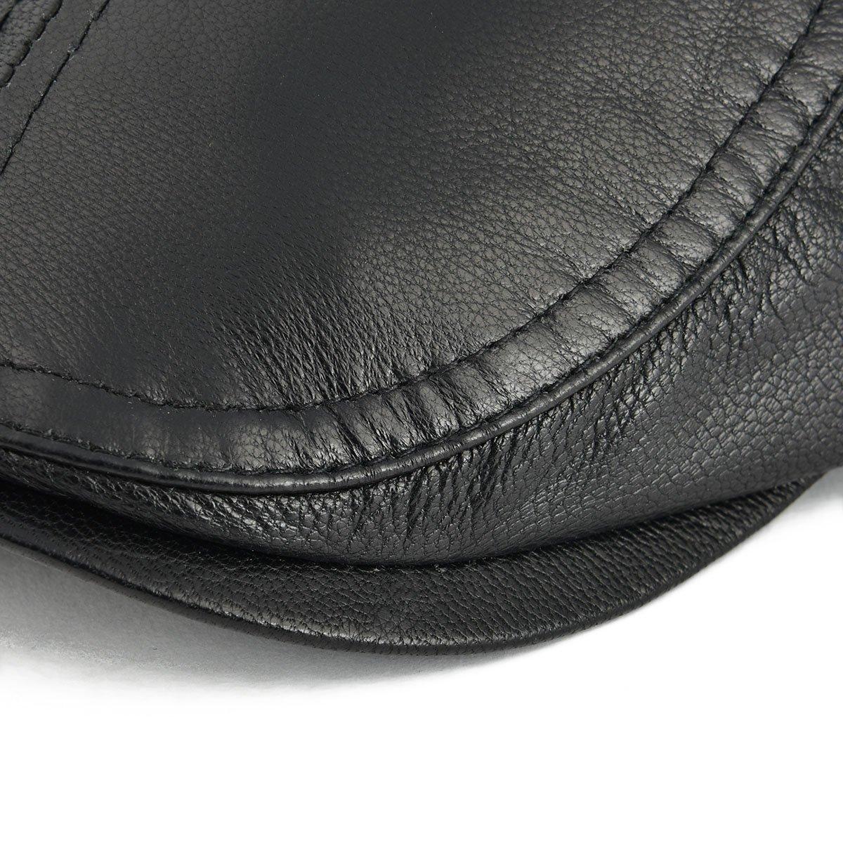 VOBOOM Men Women Adjustable Genuine Leather Ivy Cap Newsboy Hat 121