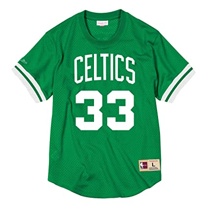b07155670bfc Mitchell   Ness Larry Bird Boston Celtics  33 NBA Name and Number Mesh  Jersey (