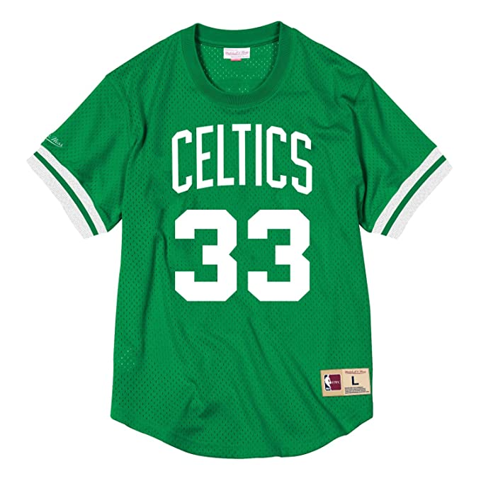 sports shoes 10b53 ad89c Amazon.com : Mitchell & Ness Larry Bird Boston Celtics #33 ...