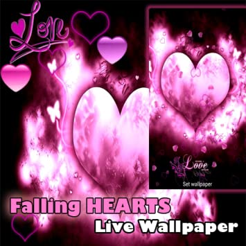 Amazoncom Live Wallpaper I Love You Falling Hearts Valentines