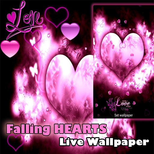 Amazon.com: Live Wallpaper   I Love You Falling Hearts Valentineu0027s Day:  Appstore For Android