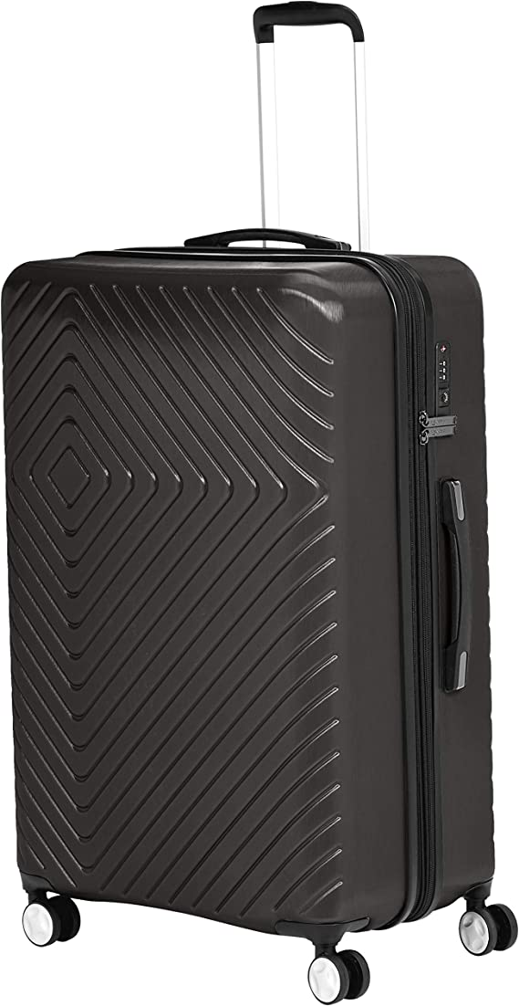 AmazonBasics Geometric Luggage Expandable Suitcase Spinner with Built-In TSA Lock and Wheels