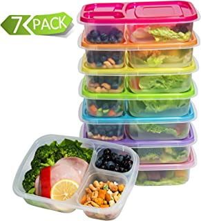 Meal Prep Containers 3-Compartment Lunch Boxes Food Storage Containers with LidsBPA Free  sc 1 st  Amazon.com : sectional lunch containers - Sectionals, Sofas & Couches
