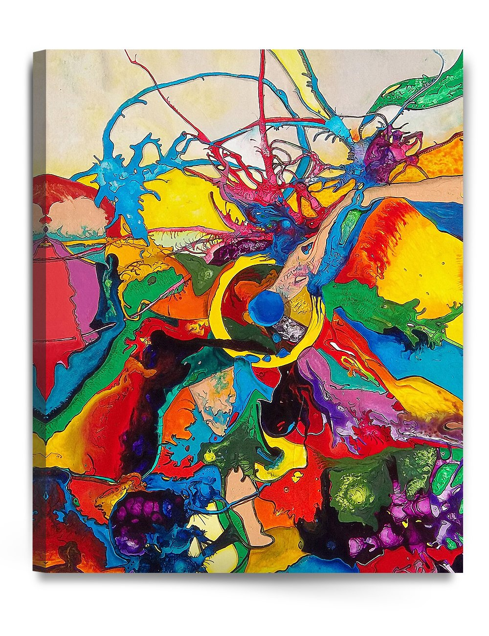 DecorArts Abstract Reproduction Acid free stretched Image 1