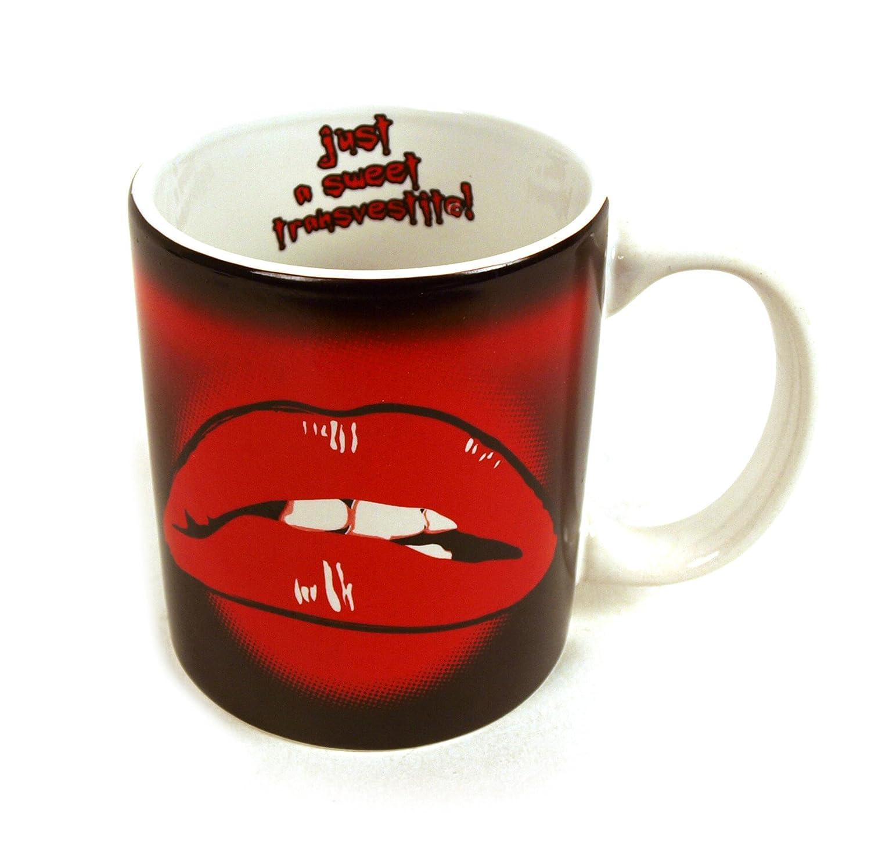 Rocky Horror Lips Mug Just A Sweet Transvestite Amazoncouk