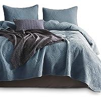 KASENTEX RH8SY005S Stonewashed Quilt Set Ultra Soft Cotton Bedspread