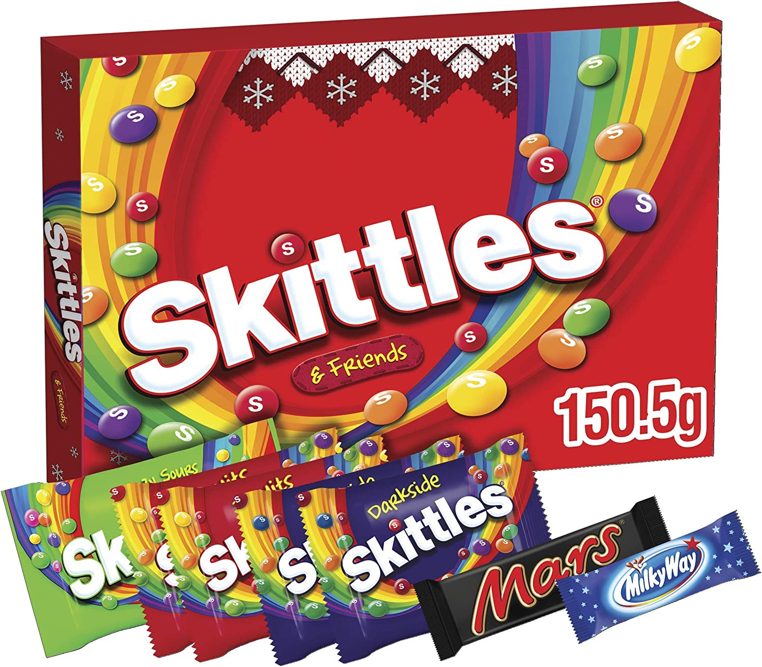 Skittles Sweets Box, Stocking Fillers, Selection Box 39% OFF £2 PRE-ORDER @ Amazon