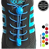StoutGears Reflective No Tie Shoelaces Lock System - Elastic Shoe Laces for Sneakers (1 Pair)
