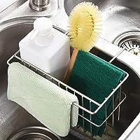 H HOME-MART Kitchen Sink Caddy, Sponge Holder,Kitchen Sink Rack, Stainless Steel Sink Hanging Storage Draining Kitchen…