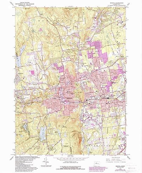 Amazon.com : Bristol CT topo map, 1:24000 scale, 7.5 X 7.5 Minute ...