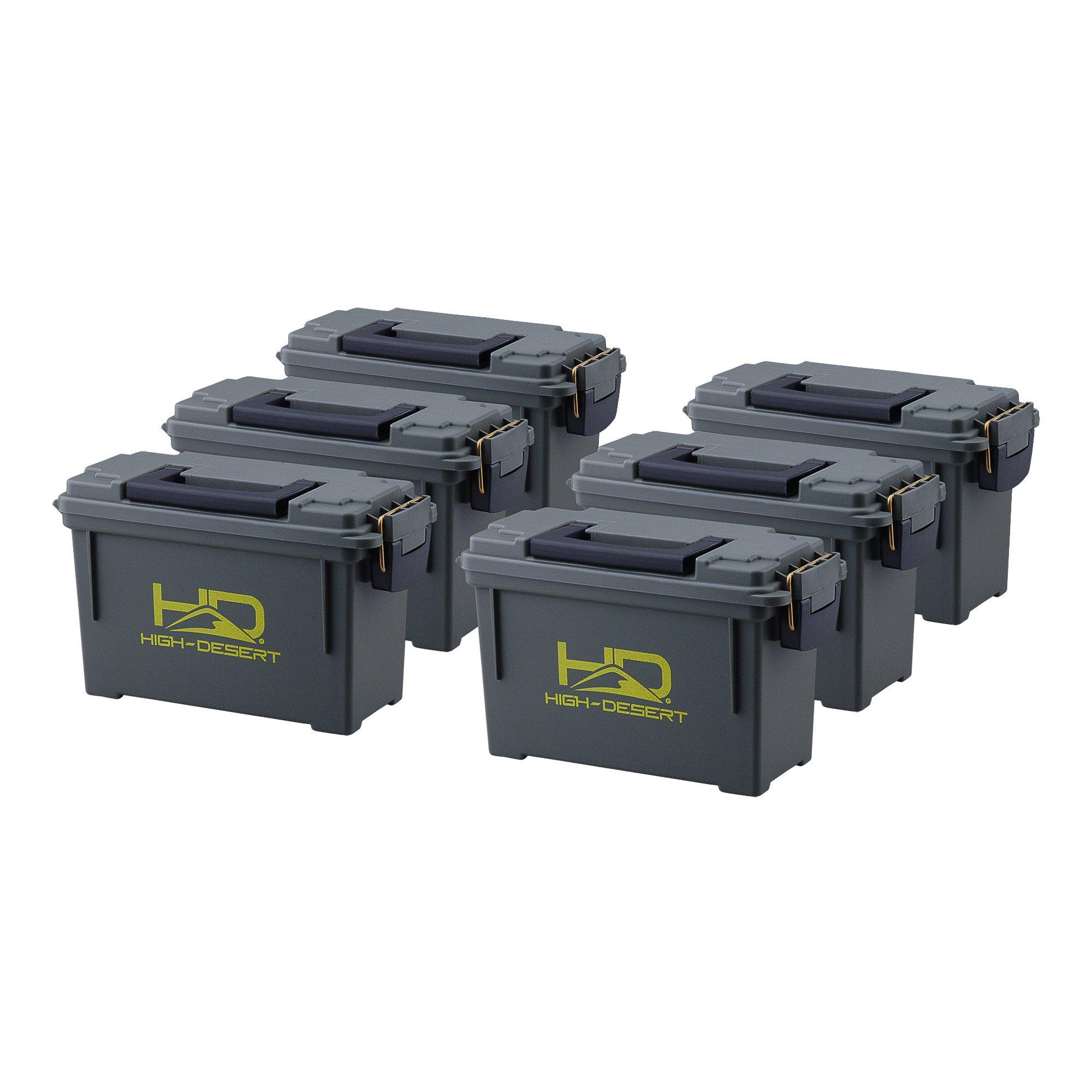 High Desert Plastic Ammo Boxes (6 Pack), Large