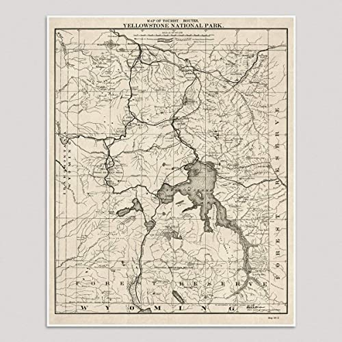 Amazon.com: Old Yellowstone National Park Map Art Print, 1900 ... on us map snake river, us map laramie, us map lake itasca, us map 8.5 x 11, us map buffalo, us map of the united states of america, us map western united states, us map of united states parks, us map continental united states, us map montana, us map oceans, us map boise, us map google earth, us map split, us map yellowstone river, us map bismarck, us map state names, us map grand canyon, us map by population, us map showing national parks,