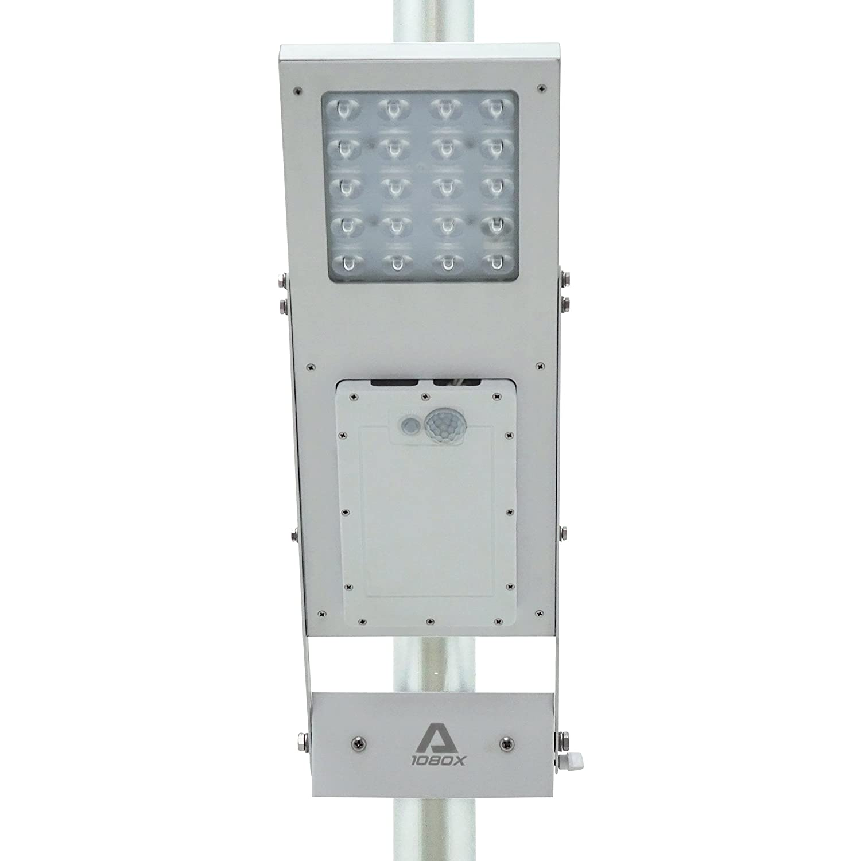 Farola ALPHA 1080X, ajuste de 3 vías, batería de litio, se ajusta a un diámetro de poste máximo de 7,62 cm (3