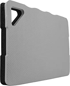 Garden Kneeling Pads - Premium Thick Gardening Knee Pads with 2 Different Surfaces, Floor Foam Kneeler Mat Cushion for Gardening, Work, Baby Bath, Yoga & Exercise, 17 x 11 x 1.4 Inch (Grey/Black)