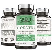 Organic Aloe Vera Supplement Equivalent to 20,000mg- RAW All Natural Non-GMO