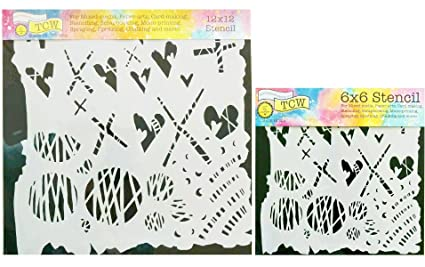 Amazon com: The Crafter's Workshop Set of 2 Stencils
