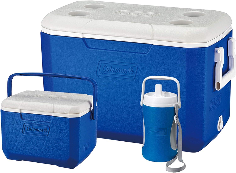 Coleman Cool Box Combo - Juego de 3 Cajas de refrigeración de Alto Rendimiento, Capacidad de 46 L, 4,7 L y 2 L