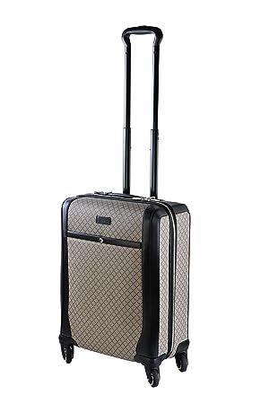 8c2ea24d21 GUCCI gG logo valise trolley gG supreme toile beige marron noir ...