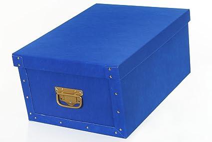 Deko – Cajas Cartón de Almacenaje bauli airtex-ks Azul caja para el hogar Oficina
