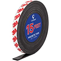 Magnetic Tape, 15 Feet Magnet Tape Roll (1/2'' Wide x 15 ft Long), with 3M Strong Adhesive Backing. Perfect for DIY, Art…