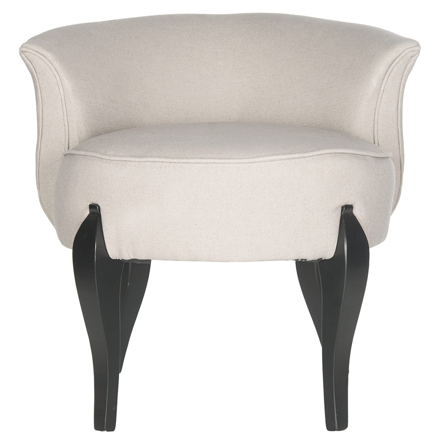 Amazon.com: Safavieh Mercer Collection Mora Vanity Chair, Taupe: Kitchen U0026  Dining