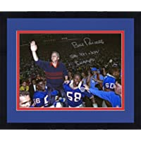 """$223 » Framed Bill Parcells New York Giants Autographed 16"""" x 20"""" Super Bowl Carry Off Photograph with""""SB 86, 90 Champs""""…"""