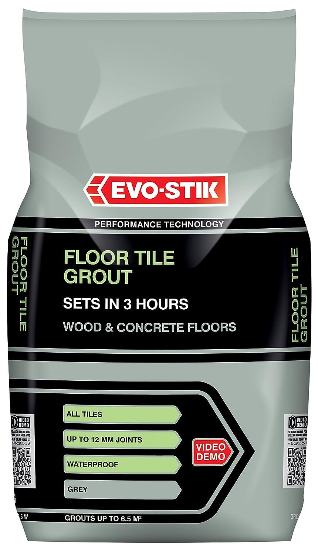 Evo-Stik 30812294 5 kg Fast Set Floor Tile Grout - Grey Bostik
