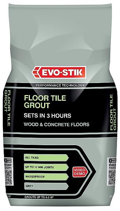 Amazon Evo Stik 30812294 5 Kg Fast Set Floor Tile Grout Grey