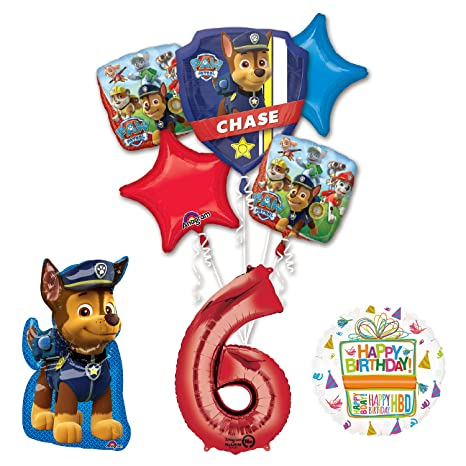 Amazon Paw Patrol The Ultimate 6th Birthday Party Supplies And Balloon Decorations Toys Games