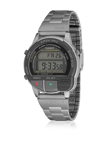 Reloj Casio A-V-1-N1-T Grabador de voz, Crono, Alarma y Luz. Cadena de acero.: Amazon.es: Relojes