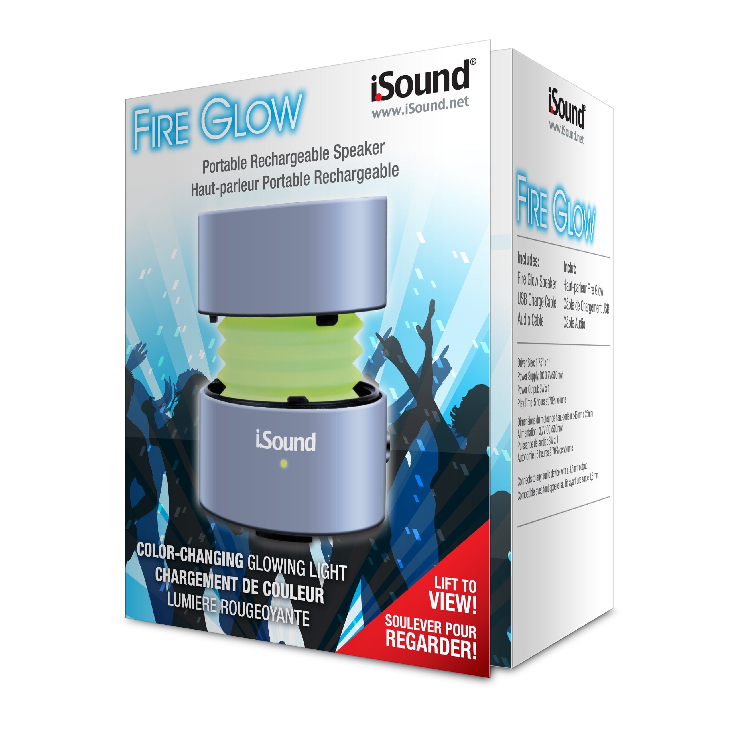 iSound Fire Glow Speaker (Silver) by iSound (Image #2)