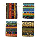 12pc Egyptian Style Jewelry Coin Pouches Aztec